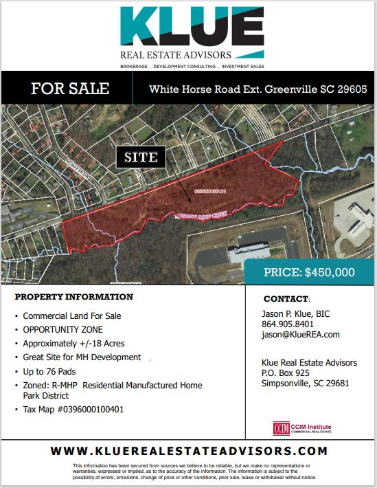 FOR SALE-White Horse Road Extension, Greenville